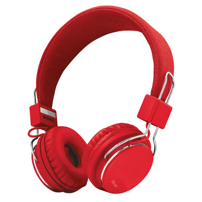 Trust ZIVA KOPTELEFOONS RED Headset - Chroom,Rood