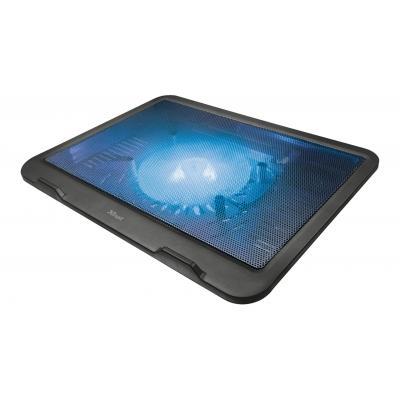 "Trust 330 x 250mm, 16"", USB port, Black Notebook koelingskussen - Zwart"