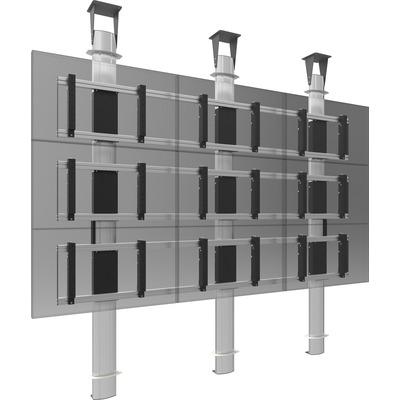 SmartMetals 2x2, 60'', VESA, aluminium, grijs TV standaard