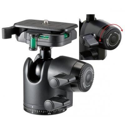 Velbon statiefkop: Ballhead QHD 65D  - Zwart