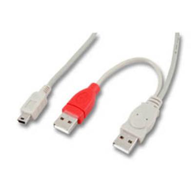 EFB Elektronik USB B mini - 2x USB A, 1m USB kabel