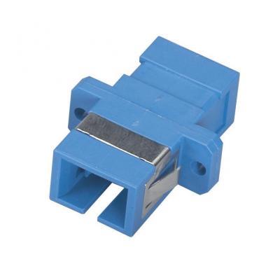 Black Box Fiber Optic Coupling - SC/SC Singlemode Simplex Ceramic Rect Fiber optic adapter - Blauw