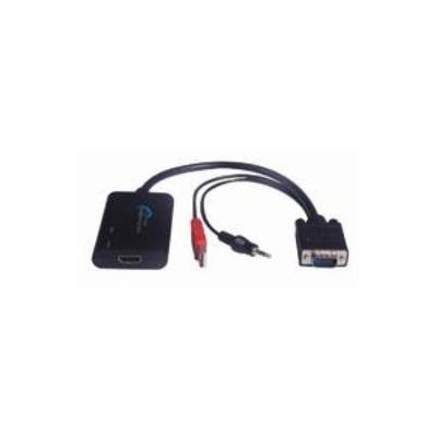 Microconnect video converter: HDMI to VGA Converter, 1080p, HDCP Ready, Audio, USB Powered, 0.3m Cord, Black - Zwart
