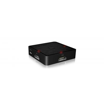 Icy box video switch: IB-SW3010 - Zwart