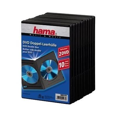 Hama : DVD Double Jewel Case with foil, 10-pack, black - Zwart