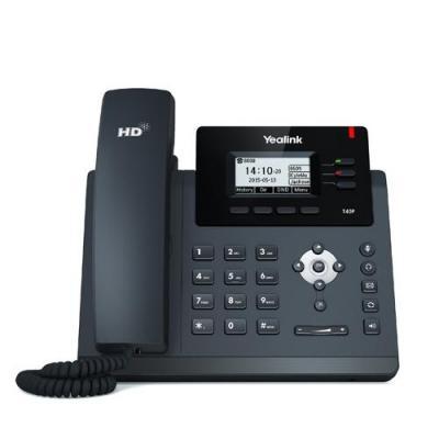 """Yealink ip telefoon: 5.842 cm (2.3 """") 132x64 pixel LCD backlight, Wall mountable, Fast Ethernet, RJ9, RJ12, PoE - Zwart"""