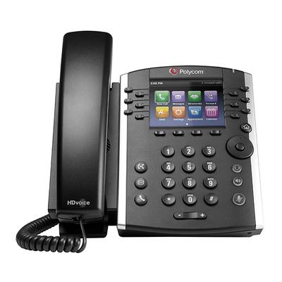 POLY VVX 411 IP telefoon - Zwart
