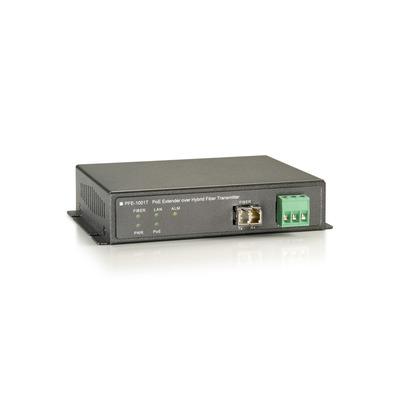 LevelOne PFE-1001T - 60W, 1 x PoE RJ-45 Netwerk verlenger - Zwart