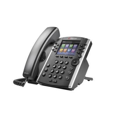 POLY VVX 410 IP telefoon - Zwart
