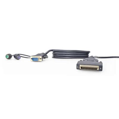 Linksys OmniView Dual Port Cable, PS/2 KVM kabel - Zwart