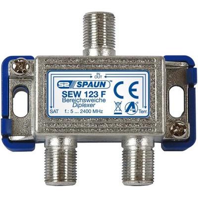 Spaun SEW 123 F Kabel splitter of combiner - Metallic