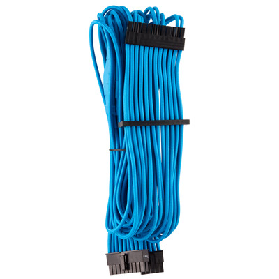 Corsair Premium Individually Sleeved ATX 24-Pin Cable Type 4 Gen 4, Blue - Blauw