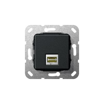 GIRA Basiselement Modular Jack RJ45 Cat.6 10 GB Ethernet Koppeling Wandcontactdoos - Zwart