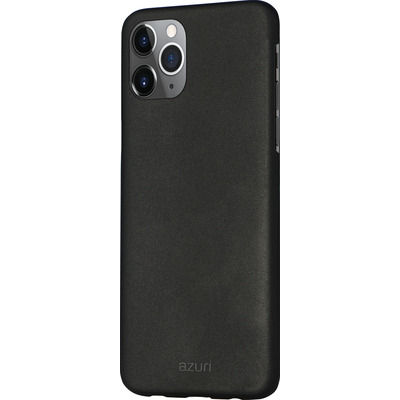 Azuri Metallic cover soft touch coating - zwart - iPhone 11 Pro Max Mobile phone case
