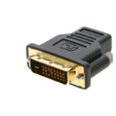 Kramer Electronics DVI-I (M) - HDMI (F) Kabel adapter - Zwart