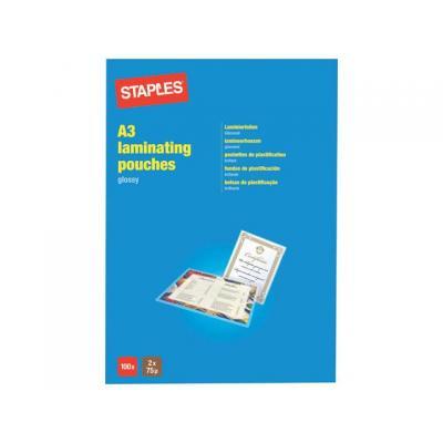 Staples laminatorhoes: Lamineerhoes SPLS 303x426 2x75micr/pk100