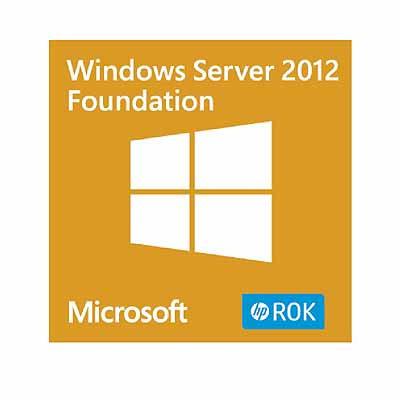 Hewlett Packard Enterprise Microsoft Windows Server 2012 R2 Foundation ROK en/nl/sv/pt/tr SW .....