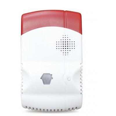 Smanos gasmelder: 868/915 MHz, 10% LEL, 75 dB, 12V/110-240V, 120 x 70 x 40 mm