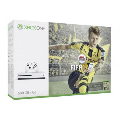 Microsoft spelcomputer: Xbox One S FIFA 17 - Wit