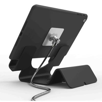 Compulocks Universal Tablet Holder with Keyed Cable Lock - Black Houder - Zwart