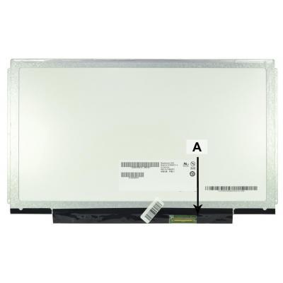 """2-power notebook reserve-onderdeel: 33.782 cm (13.3 """") HD 1366x768 LED Matte - Zwart"""