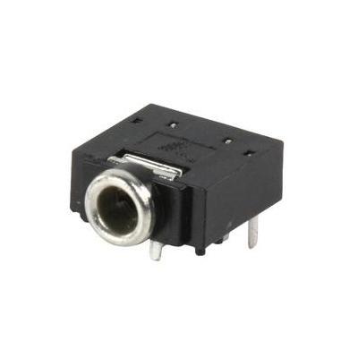 Valueline kabel connector: Jack Stereo Female 3.5mm, Black - Zwart