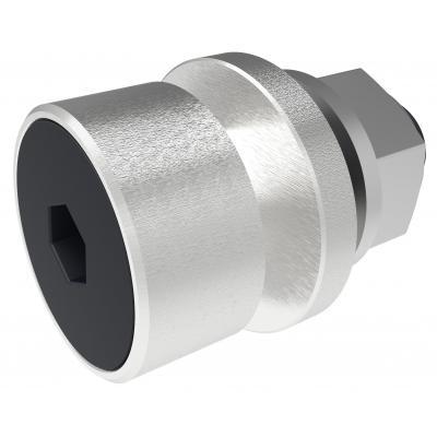SmartMetals Driepuntskoppelbus (1x) 15 mm met M8x30, ring en borgmoer Schroef en bout - Roestvrijstaal