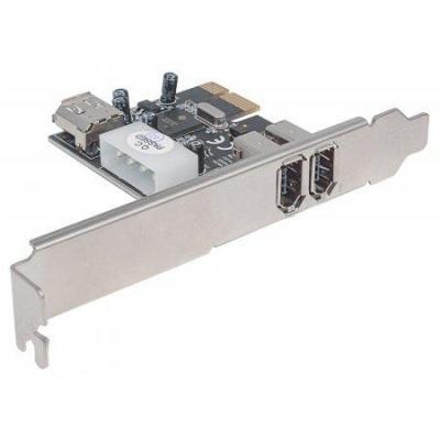 Manhattan interfaceadapter: FireWire 400 PCI Express Card - Grijs