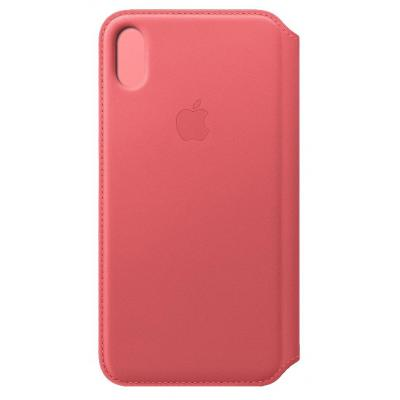 Apple Leren Folio-hoesje voor iPhone XS Max - Pioen mobile phone case - Roze