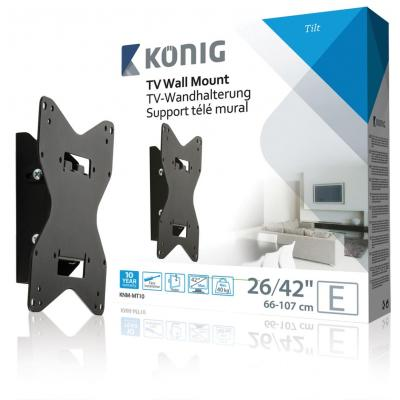 """König Wall mount tilt 26-42""""/ 66-107 cm - 40 kg / 88 lbs Montagehaak - Zwart"""