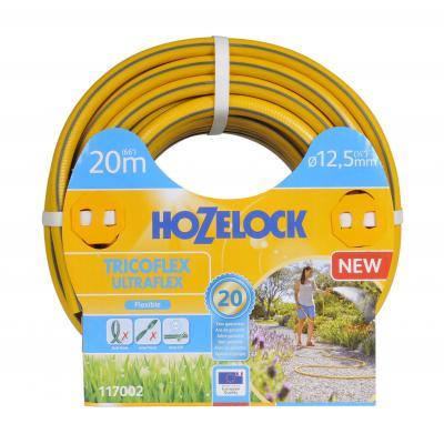 Hozelock tuinslang: Tricoflex Ultraflex slang  Ø 12.5 mm 20 meter - Grijs, Geel