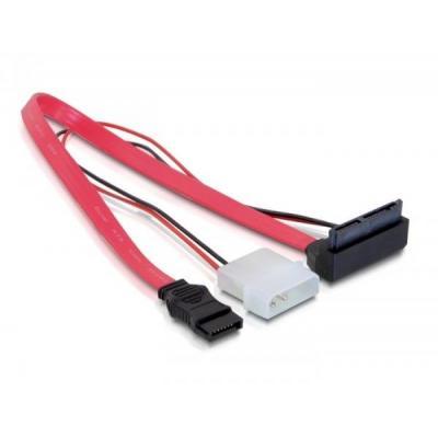 Delock ATA kabel: SATA Cable Micro 0.3m - Rood