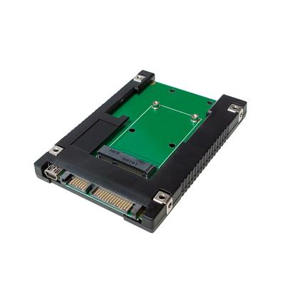 "LogiLink mSATA SSD/2.5"" SATA Adapter Interfaceadapter - Zwart"