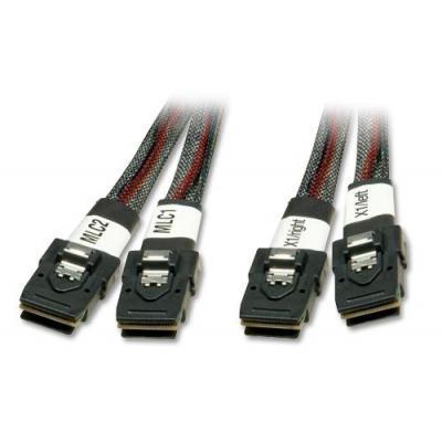 Lindy kabel: 33498 - Zwart, Rood