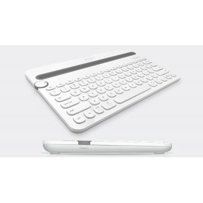 Logitech mobile device keyboard: Bluetooth Multi-Device Keyboard K480 - Grijs, Wit, QWERTY