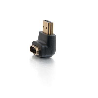 C2G 90° Down Adapter - HDMI adapter - Zwart