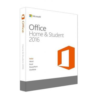 Microsoft Office Home & Student 2016, EN software suite