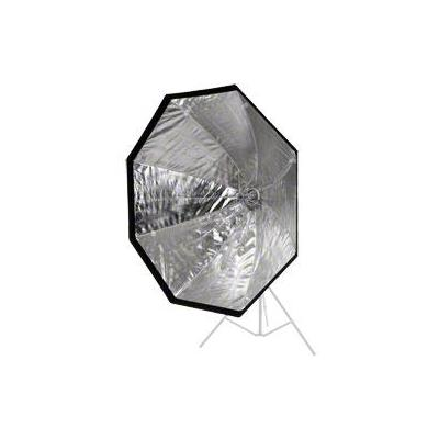 Walimex softbox: easy Octagon Umbrella Softbox Ø120cm - Zwart, Zilver, Wit