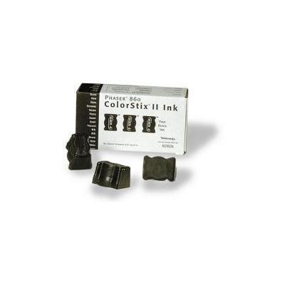 Xerox inkt stick: 3 Free Black ColorStix® II Ink - Zwart