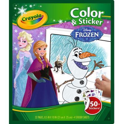 Crayola kleurplaat en boek: Frozen - Color&Sticker Book
