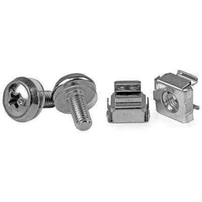 Startech.com schroef en bout: 50 Stuks M5 Montageschroeven en Kooimoeren voor Serverrack - Zilver