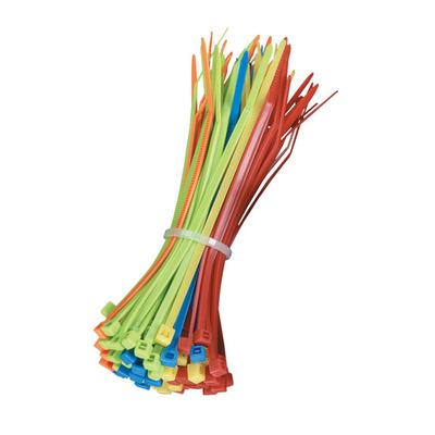 "Black Box Mini Cable Ties, 1/8""W x 4""L, 100-Pack, Assorted Colors Kabelbinder - Multi kleuren"