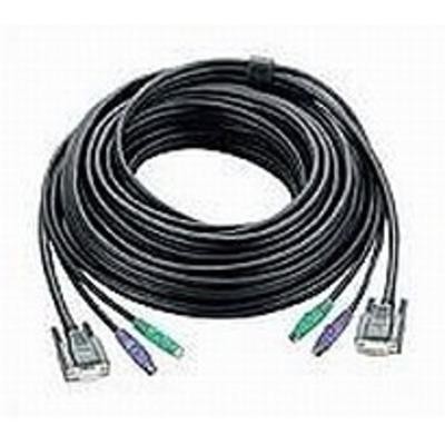 Aten KVM kabel: PS/2 KVM Cable, 20m - Zwart