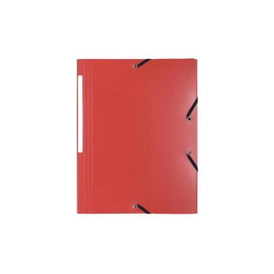 Exacompta Elasto3 flappen polypropyleen 5/10de Ondoorschijnend - A4 Map - Rood