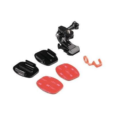 Camlink : Helmet mount kit for action camera extra sticker set - Zwart, Rood