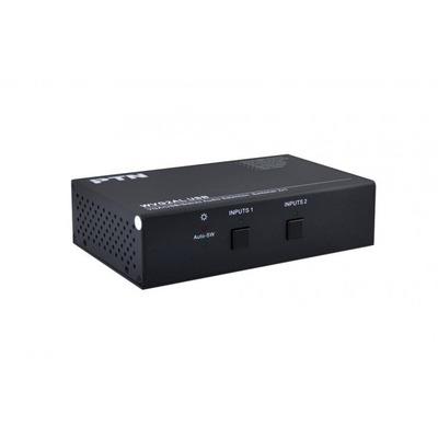 PTN-Electronics VGA x 4, USB 2.0 x 3, 3.5mm x 2 Video switch - Zwart