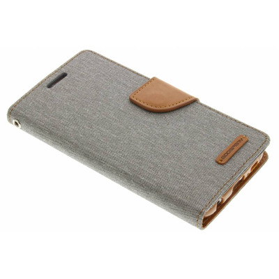 Canvas Diary Booktype Samsung Galaxy S6 - Grijs Mobile phone case