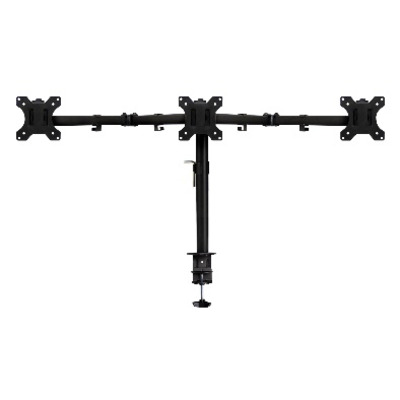 Ewent Triple monitor Desk Mount Monitorarm - Zwart