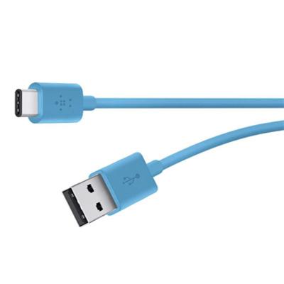 Belkin Mixit USB-A/USB-C, 1.8m USB kabel - Blauw