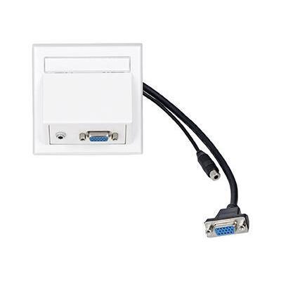 VivoLink Wall Connection Box VGA + 3.5mm, White Wandcontactdoos - Wit